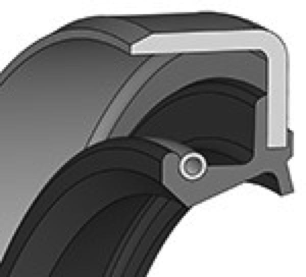 Wellendichtring 95x120x13mm NBR Bauform BS