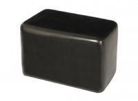 Kappe für Rechteckrohre 50x100mm aus Weich-PVC schwarz