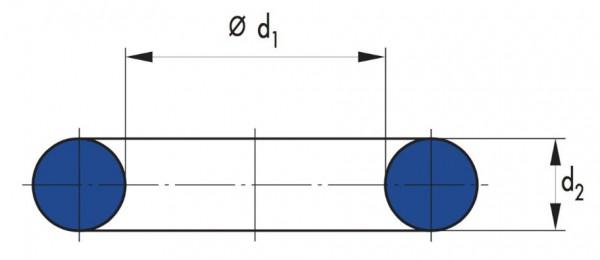 O-Ring 22x3mm FKM80 braun