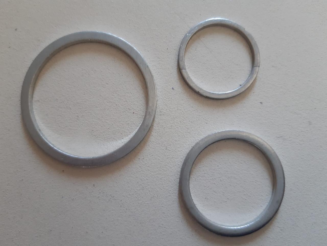 Flachdichtungsring 10x14x1mm Aluminium