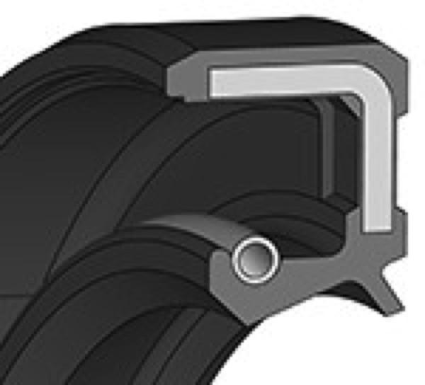 Wellendichtring 15x35x7mm FKM Bauform AS